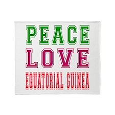 Peace Love EQUATORIAL GUINEA Throw Blanket