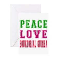 Peace Love EQUATORIAL GUINEA Greeting Card