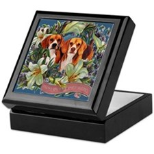 Beagle Easter Spring Victorian Keepsake Box