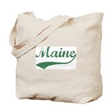 Vintage Maine (Green) Tote Bag