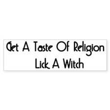 Lick A Witch Bumper Bumper Sticker