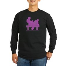 CONTENT BEAR-PURPLE MOSAIC Long Sleeve BLACK T