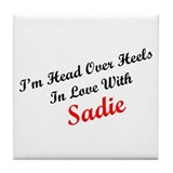 In Love with Sadie Tile Coaster