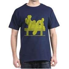 RESTING BEAR YELLOW TILES DARK T-Shirt