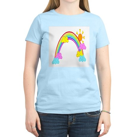 Rainbow Women's Pink T-Shirt