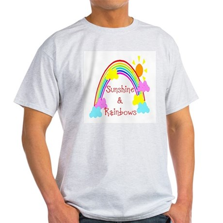 Sunshine Rainbows Ash Grey T-Shirt