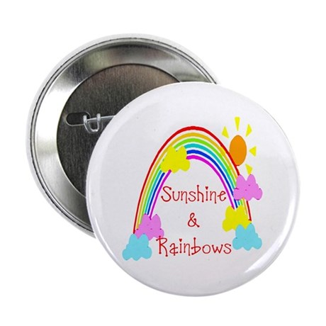 Sunshine Rainbows Button