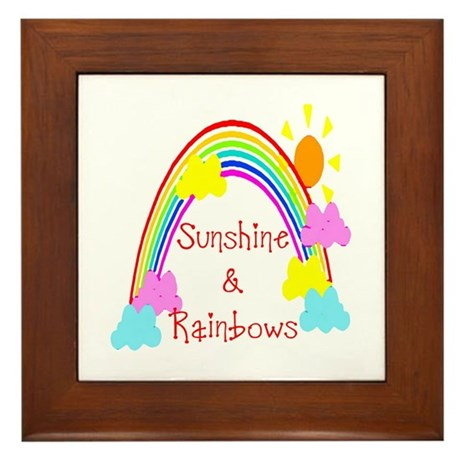 Sunshine Rainbows Framed Tile