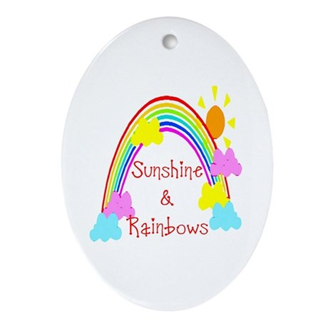 Sunshine Rainbows Oval Ornament