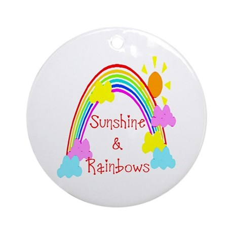 Sunshine Rainbows Ornament (Round)