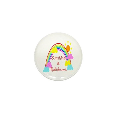 Sunshine Rainbows Mini Button