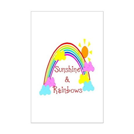 Sunshine Rainbows Mini Poster Print