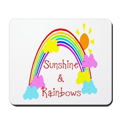 Sunshine Rainbows Mousepad