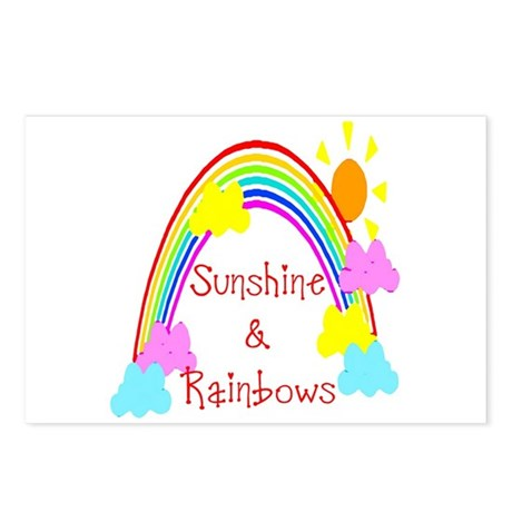 Sunshine Rainbows Postcards (Package of 8)