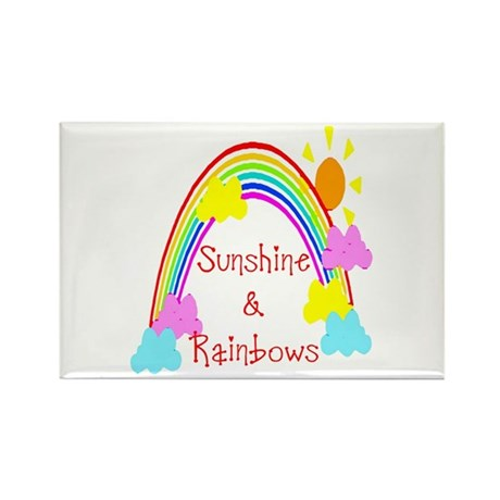 Sunshine Rainbows Rectangle Magnet