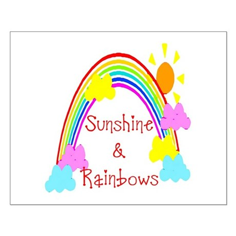 Sunshine Rainbows Small Poster