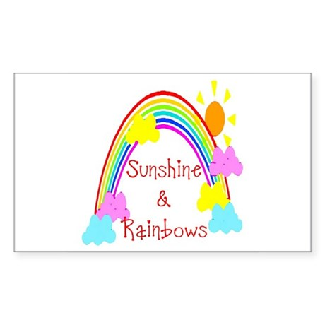 Sunshine Rainbows Rectangle Sticker