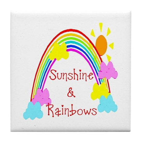 Sunshine Rainbows Tile Coaster