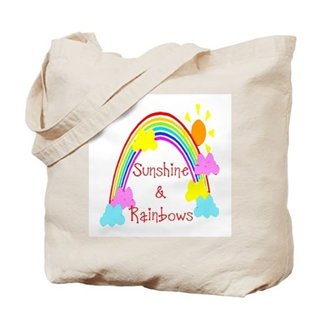 Sunshine Rainbows Tote Bag