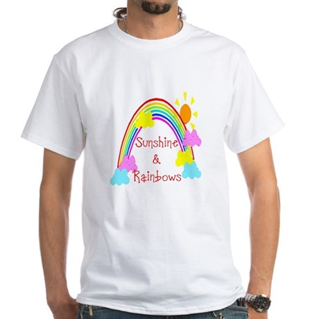 Sunshine Rainbows White T-Shirt