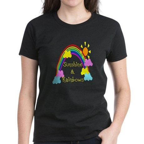 Sunshine Rainbows Women's Dark T-Shirt