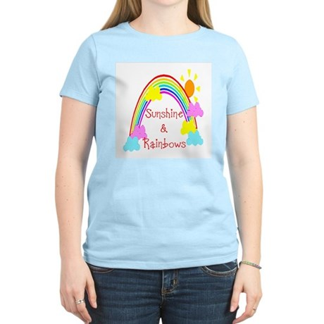 Sunshine Rainbows Women's Pink T-Shirt
