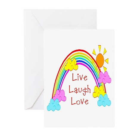 Rainbow Love Greeting Cards (Pk of 10)