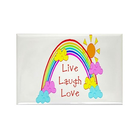 Rainbow Love Rectangle Magnet (100 pack)