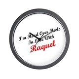 In Love with Raquel Wall Clock