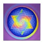 Rainbow Spiral Tile Coaster