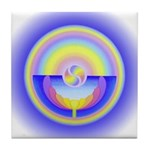 Rainbow Lotus Tile Coaster