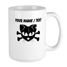 Custom Cat And Crossbones Mugs