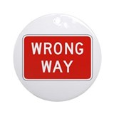 Wrong Way - USA Ornament (Round)