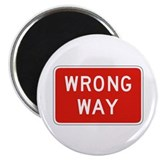"Wrong Way - USA 2.25"" Magnet (10 pack)"