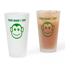 Custom Green Monkey Face Drinking Glass