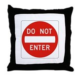 Do Not Enter - USA Throw Pillow