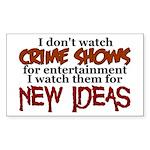 Crime Shows Sticker (Rectangle)