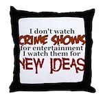Crime Shows Throw Pillow