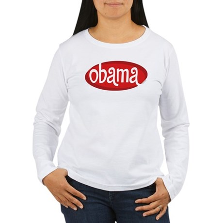 Obama Retro Womens Long Sleeve T-Shirt
