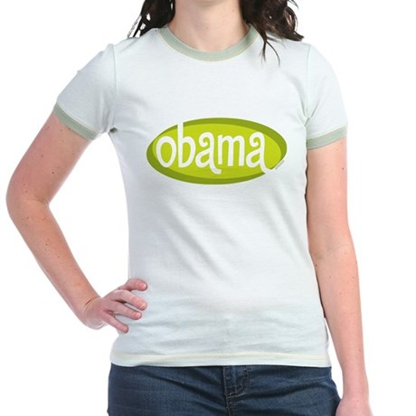 Obama Retro Mint/Avocado Jr Ringer T-Shirt