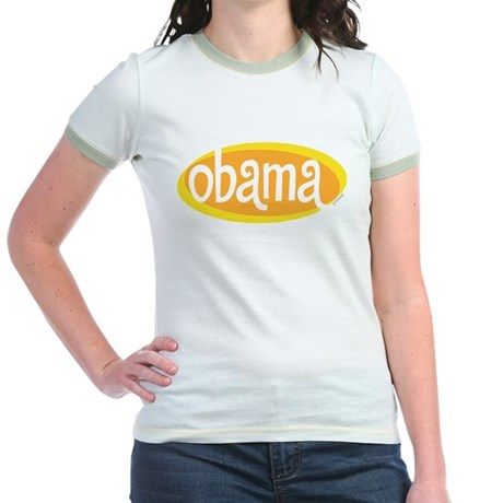 Obama Retro Gold Jr Ringer T-Shirt