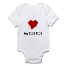 I Love My Dzia Dzia Infant Bodysuit