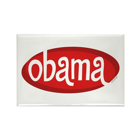 Obama Retro Rectangle Magnet (100 pack)