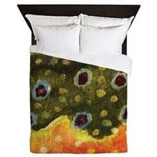 Trout Fly Fishing Queen Duvet