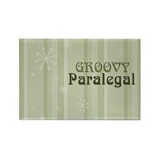 Groovy Paralegal Rectangle Magnet (100 pack)