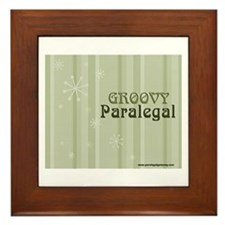 Groovy Paralegal Framed Tile