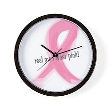 real men wear pink Wall Clock