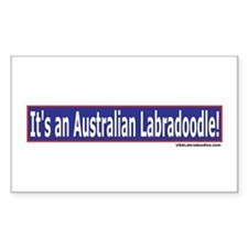 Its An Australian Labradoodle Sticker (Rectangular