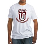 What the Duck University Fitted T-Shirt