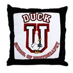 What the Duck University Throw Pillow